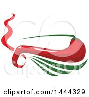 Clipart Of A Mexican Chili Pepper And Text Royalty Free Vector Illustration by Vector Tradition SM