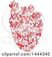 Clipart Of A Red Human Heart Made Of Dna Strands Royalty Free Vector Illustration by Vector Tradition SM