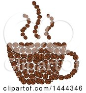 Cup Formed Of Coffee Beans