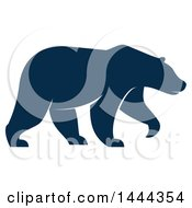 Clipart Of A Navy Blue Bear With A White Outline Royalty Free Vector Illustration by Vector Tradition SM