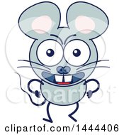 Clipart Of A Cartoon Angry Mouse Mascot Character Royalty Free Vector Illustration by Zooco