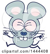 Clipart Of A Cartoon Celebrating Mouse Mascot Character Royalty Free Vector Illustration by Zooco