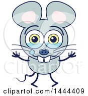 Clipart Of A Cartoon Crying Mouse Mascot Character Royalty Free Vector Illustration by Zooco