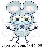 Cartoon Crying Mouse Mascot Character