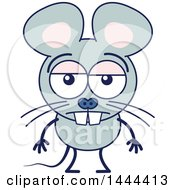 Cartoon Indifferent Mouse Mascot Character