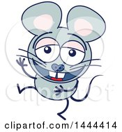 Cartoon Laughing Mouse Mascot Character