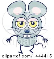 Clipart Of A Cartoon Naughty Mouse Mascot Character Royalty Free Vector Illustration by Zooco