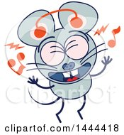 Clipart Of A Cartoon Singing Mouse Mascot Character Royalty Free Vector Illustration by Zooco