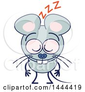 Clipart Of A Cartoon Mouse Mascot Character Sleeping Upright Royalty Free Vector Illustration by Zooco