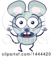 Clipart Of A Cartoon Surprised Mouse Mascot Character Royalty Free Vector Illustration by Zooco