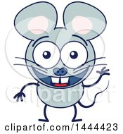 Clipart Of A Cartoon Waving Mouse Mascot Character Royalty Free Vector Illustration by Zooco