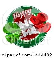 3d Mexican Flag Colored Happy Cinco De Mayo Text Design Over A Circle