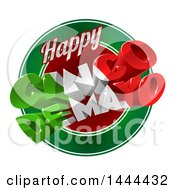 Clipart Of A 3d Mexican Flag Colored Happy Cinco De Mayo Text Design Over A Circle Royalty Free Vector Illustration