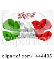 3d Mexican Flag Colored Happy Cinco De Mayo Design
