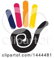 Clipart Of A Hand Holding Up Five Fingers Royalty Free Vector Illustration