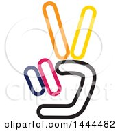 Clipart Of A Hand Holding Up Two Fingers Royalty Free Vector Illustration by ColorMagic