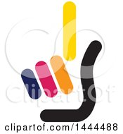 Clipart Of A Hand Holding Up One Finger Royalty Free Vector Illustration
