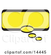 Rectangle Shaped Thought Balloon With A Yellow Background And Bold Black Outline Clipart Illustration