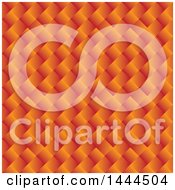 Clipart Of A Weaved Orange Pattern Background Royalty Free Vector Illustration