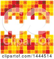 Poster, Art Print Of Red Yellow And Orange Tile Background