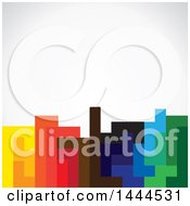 Poster, Art Print Of Background Of Abstract Colorful Sections Over Shading