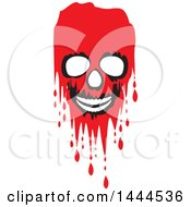 Clipart Of A Bleeding Skull Royalty Free Vector Illustration