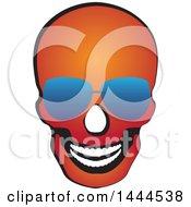 Poster, Art Print Of Red Skull Wearing Sunglasses