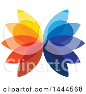 Clipart Of A Flower With Colorful Petals Royalty Free Vector Illustration