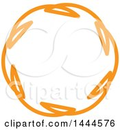 Clipart Of A Mandala Floral Design In Orange Royalty Free Vector Illustration