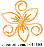 Clipart Of A Mandala Floral Design In Orange Royalty Free Vector Illustration by ColorMagic