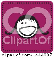 Clipart Of A Stick Girl Avatar Face Icon Royalty Free Vector Illustration by ColorMagic