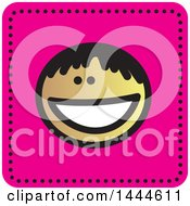 Clipart Of A Black Stick Boy Avatar Face Icon Royalty Free Vector Illustration by ColorMagic