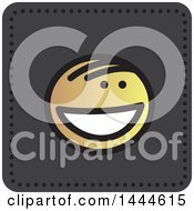 Clipart Of A Stick Boy Avatar Face Icon Royalty Free Vector Illustration by ColorMagic