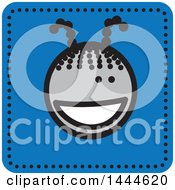 Clipart Of A Stick Girl Avatar Face Icon Royalty Free Vector Illustration
