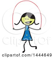 Stick Girl Skipping Rope