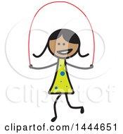 Poster, Art Print Of Stick Girl Skipping Rope