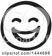 Black And White Laughing Smiley Emoticon Face