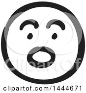 Black And White Surprised Smiley Emoticon Face