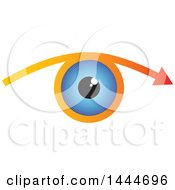 Clipart Of A Blue Eye And Arrow Royalty Free Vector Illustration by ColorMagic