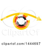 Clipart Of An Abstract Eye With Arrows Royalty Free Vector Illustration by ColorMagic