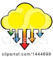 Cloud With Colorful Download Arrows