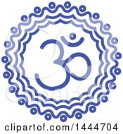 Clipart Of A Blue Meditation Om Symbol Design Royalty Free Vector Illustration by ColorMagic