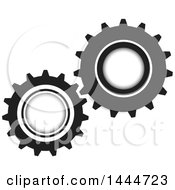 Poster, Art Print Of Pair Of Working Gears