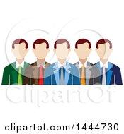 Poster, Art Print Of Line Of White Business Men