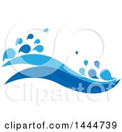 Clipart Of A Design Of Blue Waves Royalty Free Vector Illustration by ColorMagic #COLLC1444739-0187