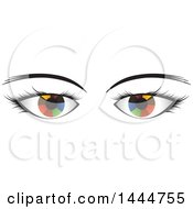 Clipart Of A Pair Of Colorful Eyes Royalty Free Vector Illustration by ColorMagic