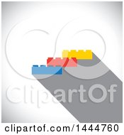 Clipart Of Colorful Building Blocks Over Shading Royalty Free Vector Illustration by ColorMagic