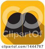 Clipart Of A Yellow Icon With A Black Open Book Royalty Free Vector Illustration by ColorMagic