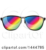 Pair Of Rainbow Sunglasses