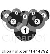 Poster, Art Print Of Grayscale Billiards Balls